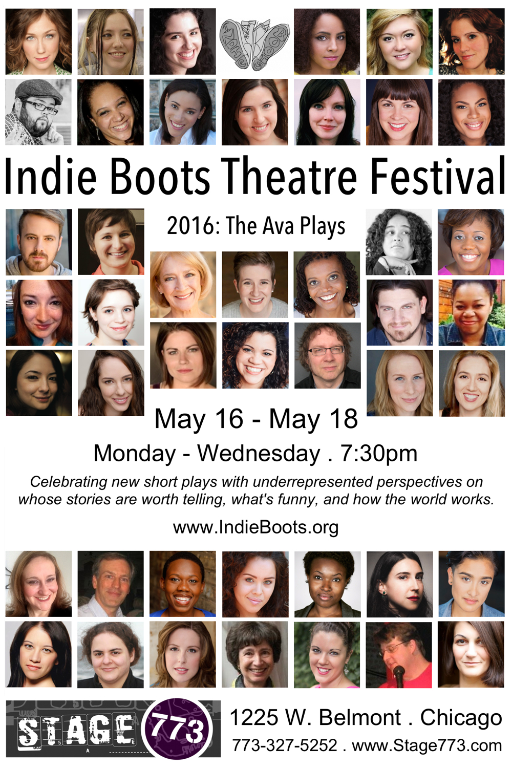 Indie Boots Theatre Festival postcard